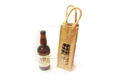 Birra al miele e allo zafferano con confezione
