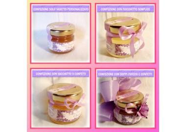 Bomboniera o Segnaposto per Cresima Bambina - vasetto miele gr 30