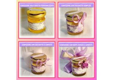 Bomboniera o Segnaposto per Prima comunione Bambina - vasetto miele gr 50