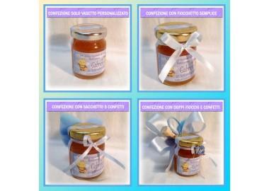 Bomboniera o Segnaposto per Annuncio nascita Bambino - vasetto miele gr 80