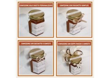 Bomboniera o Segnaposto per Anniversario di nozze - vasetto miele gr 150 esagonale