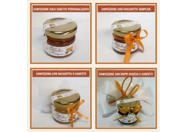 Bomboniera o Segnaposto per Anniversario di nozze - vasetto miele gr 30