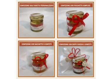 Bomboniera o Segnaposto per Anniversario di nozze - vasetto miele gr 50