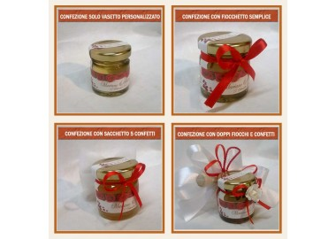 Bomboniera o Segnaposto per Matrimonio - vasetto miele gr 50