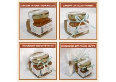 Bomboniera o Segnaposto per Anniversario di nozze - vasetto miele gr 50 quadrato