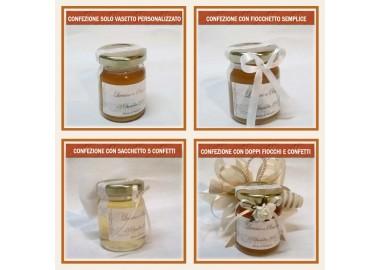 Bomboniera o Segnaposto per Anniversario di nozze - vasetto miele gr 80