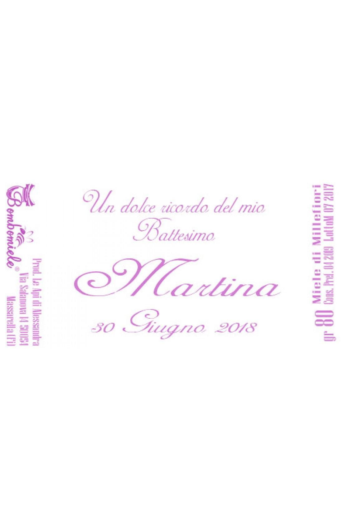 Bomboniera O Segnaposto Per Battesimo Bambina Vasetto Miele Gr 50