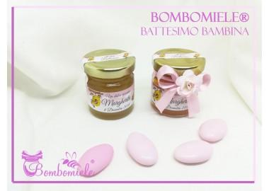 Bomboniera o Segnaposto per annuncio di nascita Bambina - vasetto miele gr 50