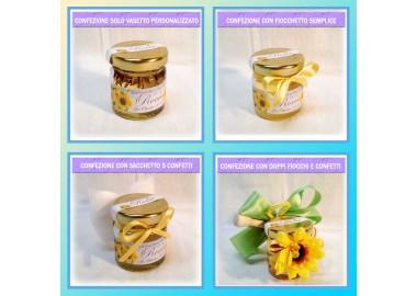 Bomboniera o Segnaposto per Prima comunione Bambino - vasetto miele gr 50