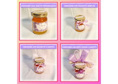 Bomboniera o Segnaposto per Cresima Bambina - vasetto miele gr 80