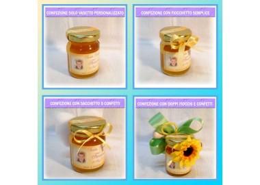 Bomboniera o Segnaposto per Prima Comunione Bambino - vasetto miele gr 80