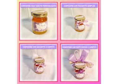 Bomboniera o Segnaposto per Prima Comunione Bambina - vasetto miele gr 80
