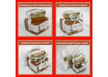 Bomboniera o segnaposto per LAUREA - vasetto miele gr 50 quadrato