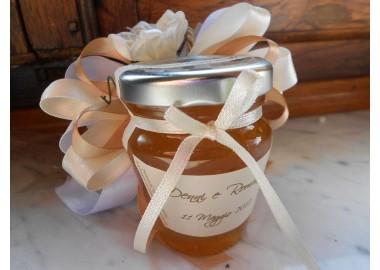 Bomboniera o Segnaposto per Battesimo Bambina - vasetto miele anforina gr 75