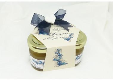 Bomboniera o Segnaposto Prima Comunione Bambino - coffanetto 3 vasetti miele e confetti