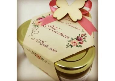 Bomboniera o Segnaposto Prima Comunione Bambina - coffanetto 3 vasetti miele e confetti